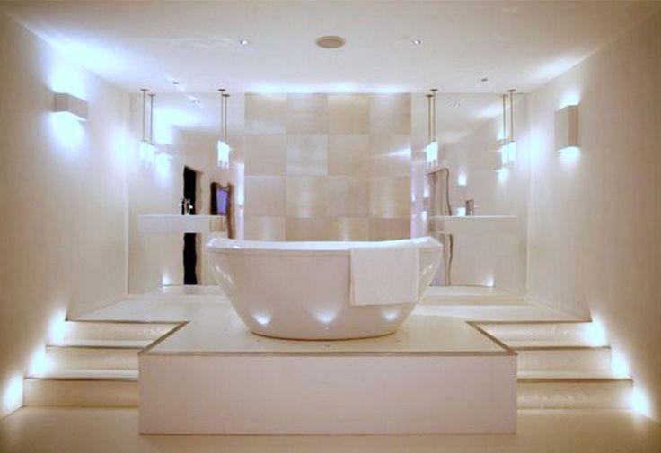 58 best bathrooms lighting images on pinterest bathroom modern modern bathroom designs 2016 with white led lighting home decor 2017 aloadofball Gallery
