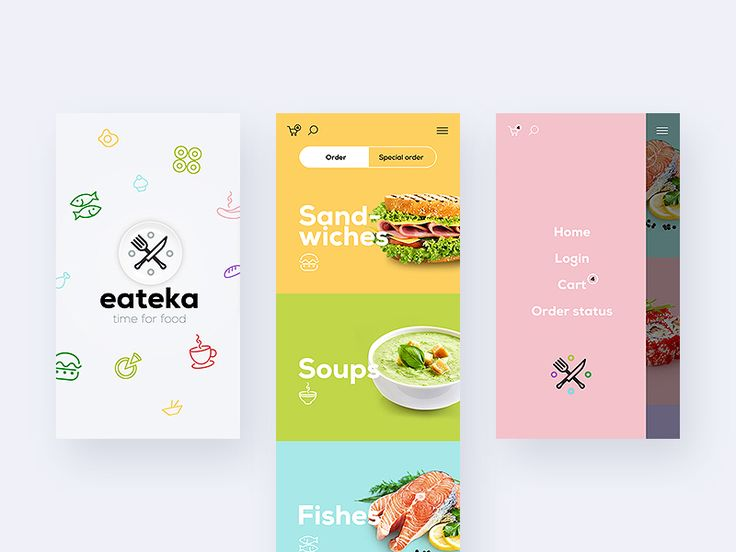 Food app - via @designhuntapp