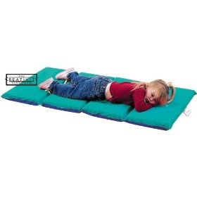 Children s Factory CF400-525TB Teal- Blue 4 Section 1 in. Thick Infection Control Mat- 10 Pack