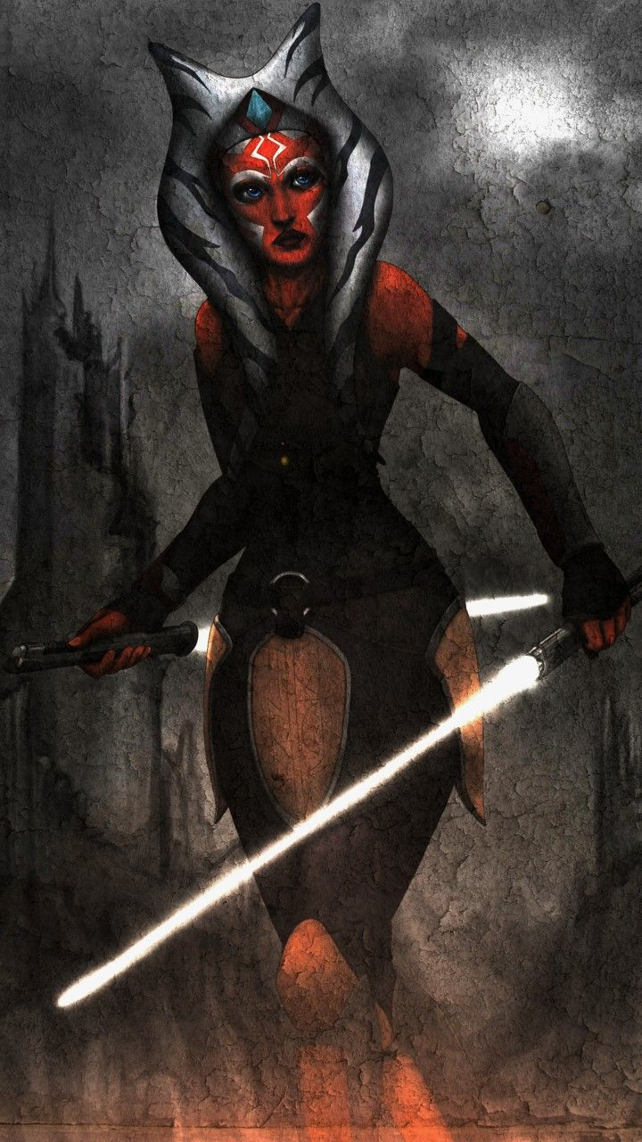 Ahsoka Tano Wallpaper 1080x1920 Mobile Star Wars Wallpaper Star Wars Clone Wars Star Wars Art