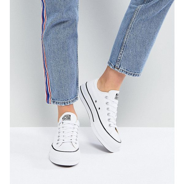 Converse Chuck Taylor All Star Platform Ox Trainers In White ...