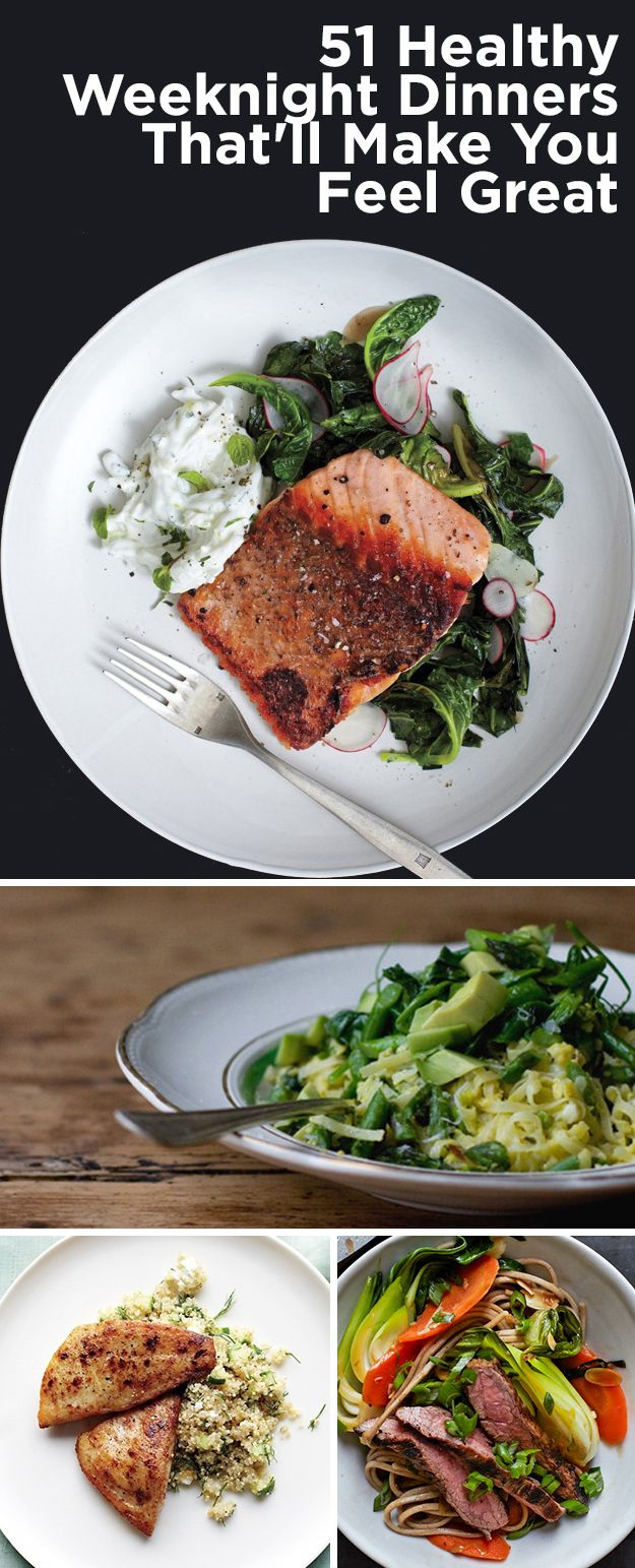 51 Healthy Weeknight Dinners That Will Make You Feel Great. I need this after tonight!