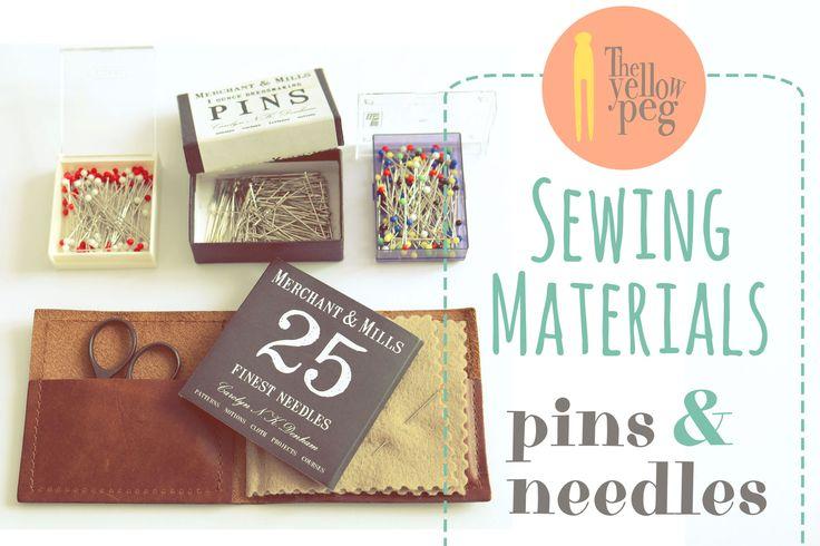 Sewing materials: pins and needles.
