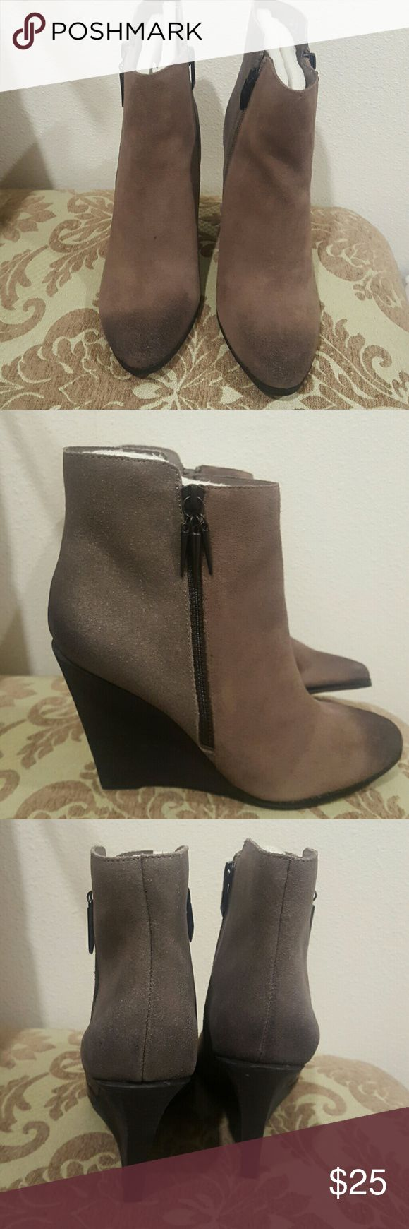 Fergie Wedge Shoes Two tone distressed wedges Fergie Shoes Wedges