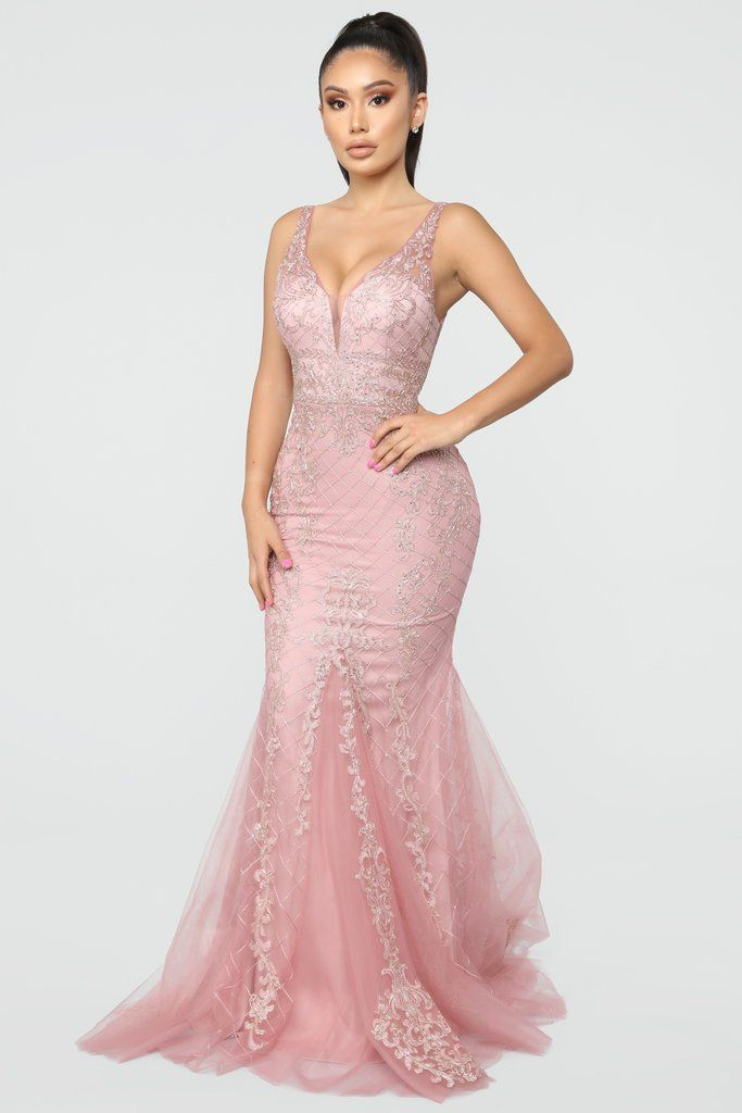 An Evening Out Embellished Gown Rose Embellished Gown Dresses Gowns