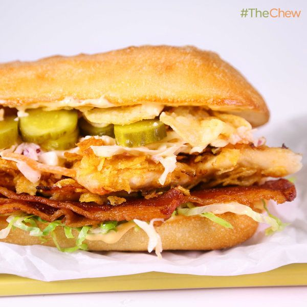 Karissa Cooney's #SpicyChicken and Slaw #Sandwich! #TheChew