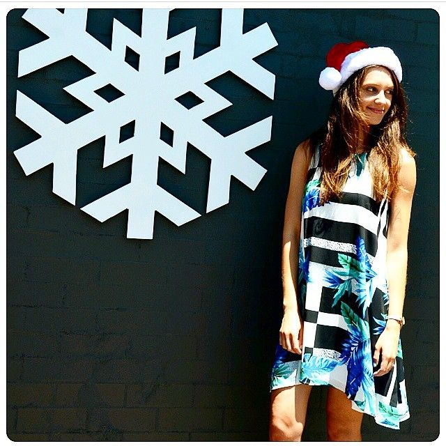 •It's starting to feel like Christmas•  from @thefrowboutique of our Venice Beach Dress selling fast www.talulah.com.au #isla #christmasoutfit #venicebeach #onlineshopping