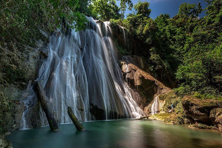beautiful scenery at the waterfall Batanta, Raja Ampat