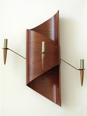 Wooden Wall Lamp | Mid Century Modern