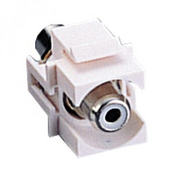 RCA Snap-in Keystone Module White $2.65 ex GST