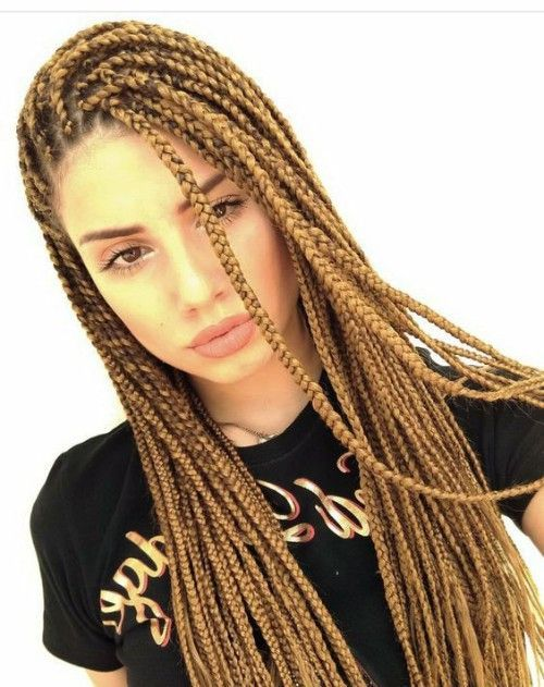 Remarkable Box Braids Examples For White Girls Hair