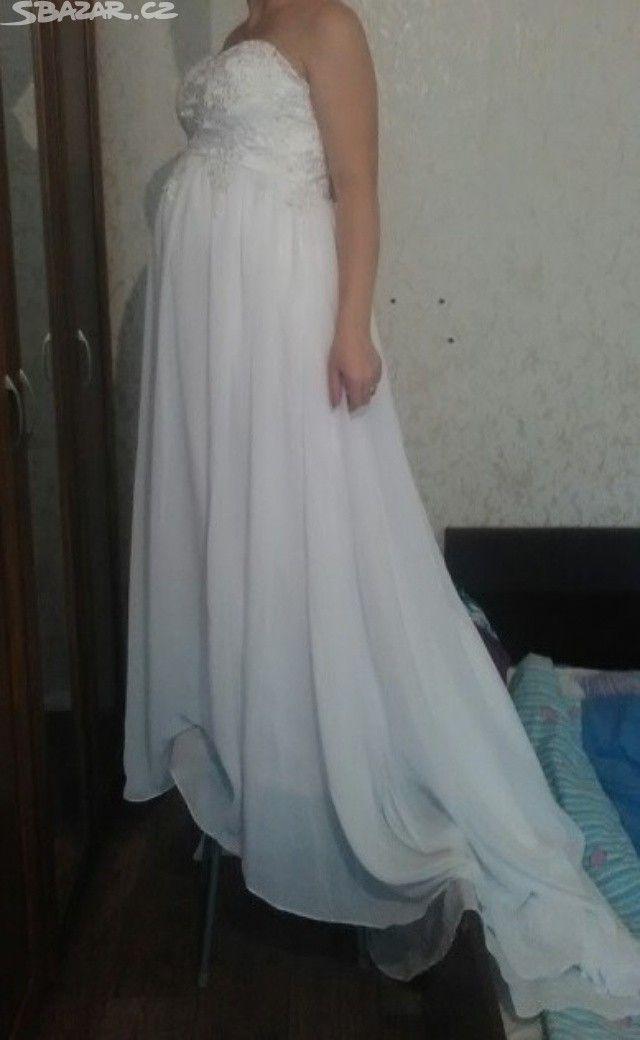 Nové svatební šaty pro těhotné za 1999, - obrázek číslo 1
