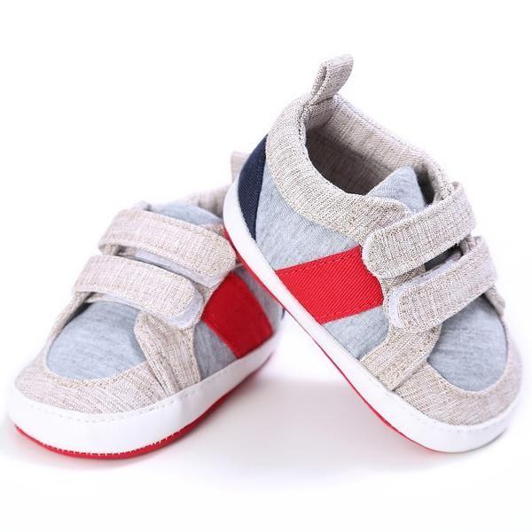 Weixinbuy Newborn Baby Boys Canvas Soft Sole Anti-Slip Summer Sandals