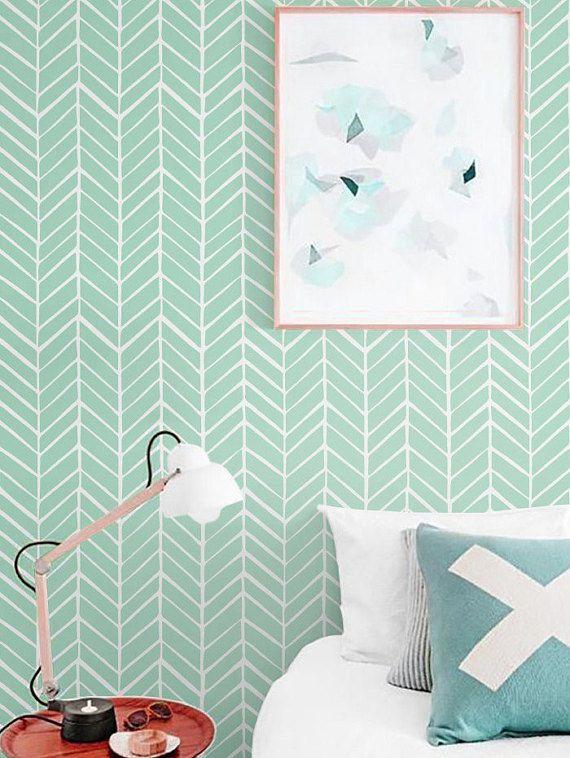 Zelfklevend vinyl behang  visgraat patroon print  026