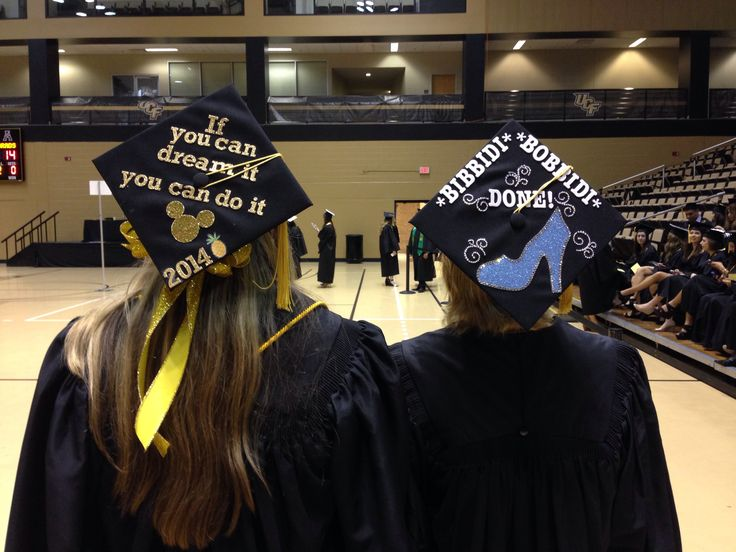 Our Disney themed graduation caps!
