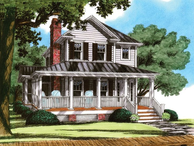 ePlans Cottage House Plan– Four Bedroom Cottage With Screened Porch – 1816 Square Feet and 4 Bedrooms from ePlans – House Plan Code HWEPL77189