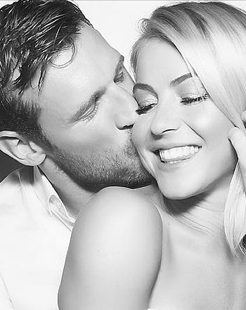 Julianne Hough and her fiancé, Brooks Laich, celebrated their engagement with a party on Saturday, Sept. 5 - see the cute photo
