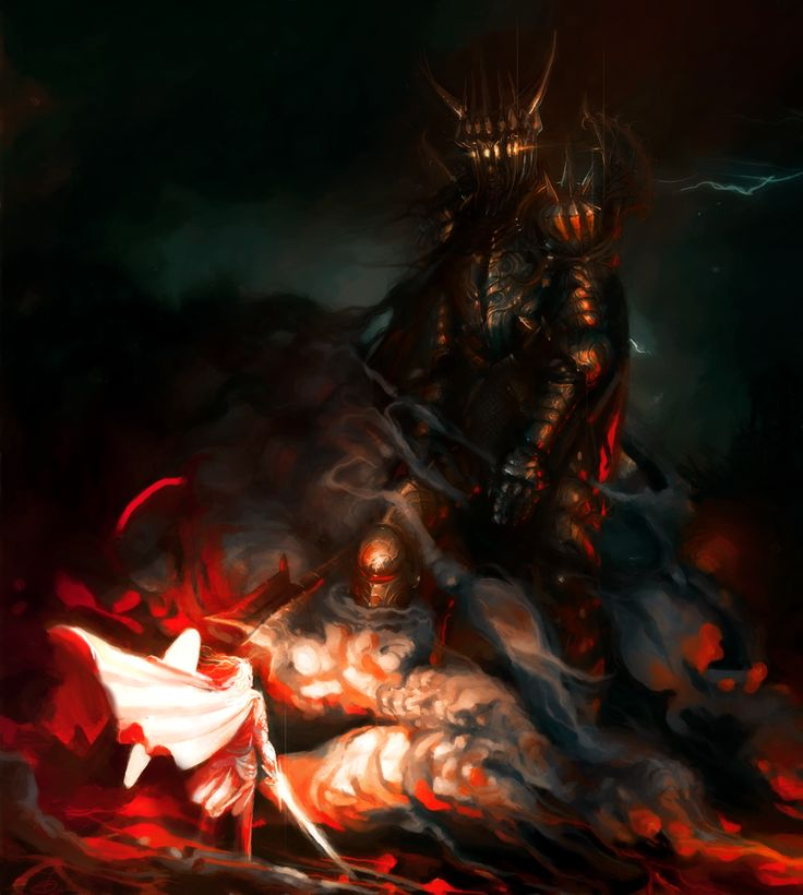 Holy cow that's good! Morgoth and Fingolfin Revamped by Art-Calavera.deviantart.com on @deviantART