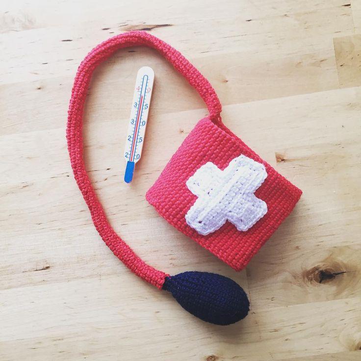 Blood Pressure Meter #bloodpressure #doctorkit #play #crochet #handmade