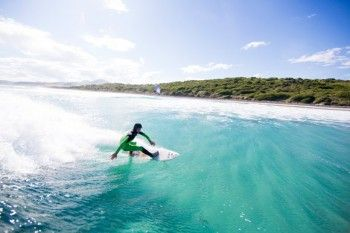 Elliot Brown makes the most of the clear water and playful surf at Blackhead Beach, Dunedin, New Zealand. - Buy this print | Box of Light - Surf + Lifestyle + Mountains