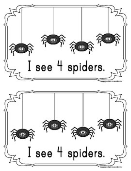 Spider counting book/emergent reader - Freebie