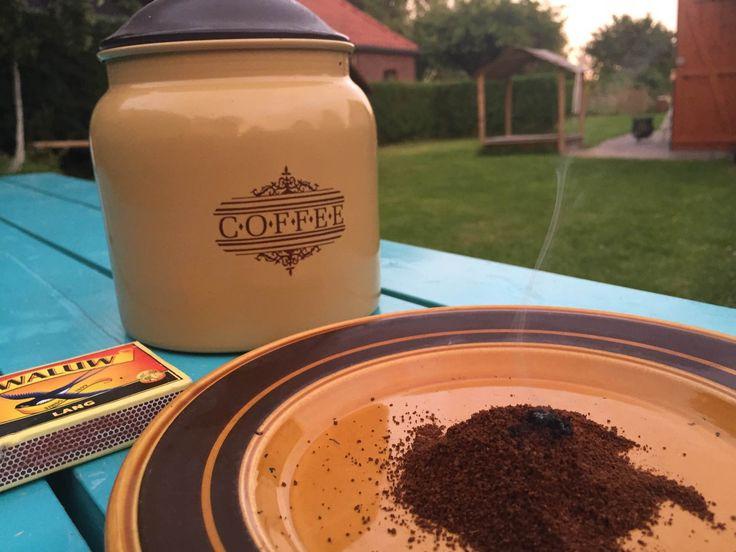tips tegen wespen filter koffie in brand