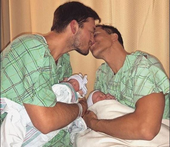 TV star, Fredrik Eklund and his gay husband, Derek Kaplan welcome twins together after suffering 2 miscarriages (Photo)