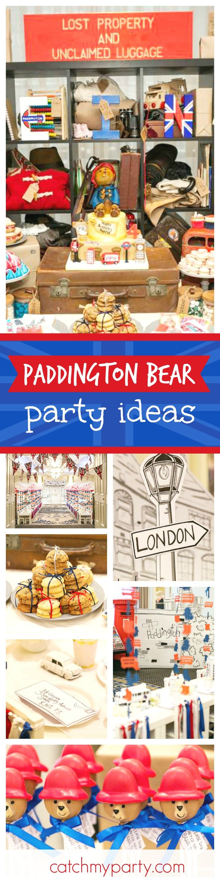 You'll feel like your in London with this fabulous Paddington Bear birthday party. The decor is awesome!! See more party ideas and share yours at CatchMyParty.com