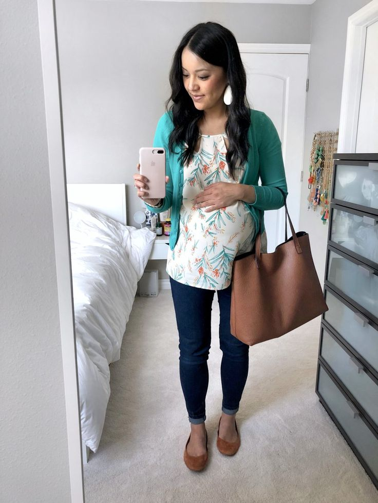 Floral Bouse and Turquoise Cardigan Outfit