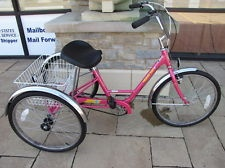 Adult Miami Sun Tricycle 3 Wheeled 3 Speed Bike Bicycle Pink Trike Local Pick Up
