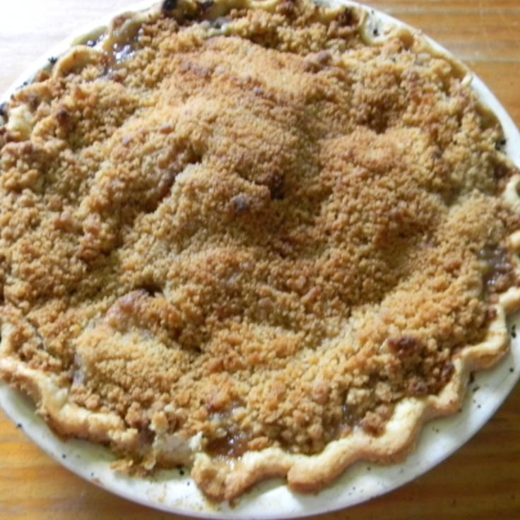 French Crumb Apple Pie Recipe | Just A Pinch Recipes