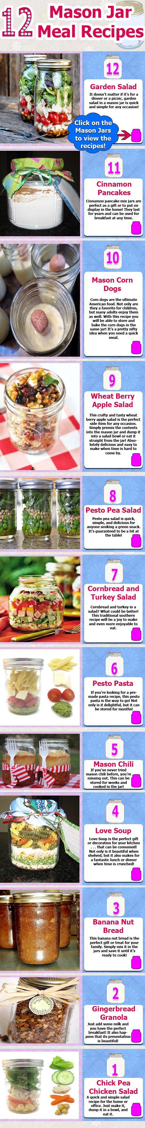 Mason Jar 12 Meal Recipes