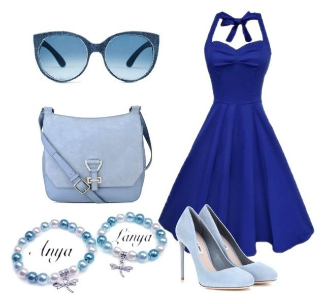 """""""Summer blue feeling -"""" by tunderkomod on Polyvore featuring Miu Miu and Nine West"""