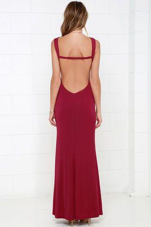 Lovely Wine Red Dress - Backless Dress - Maxi Dress - $86.00