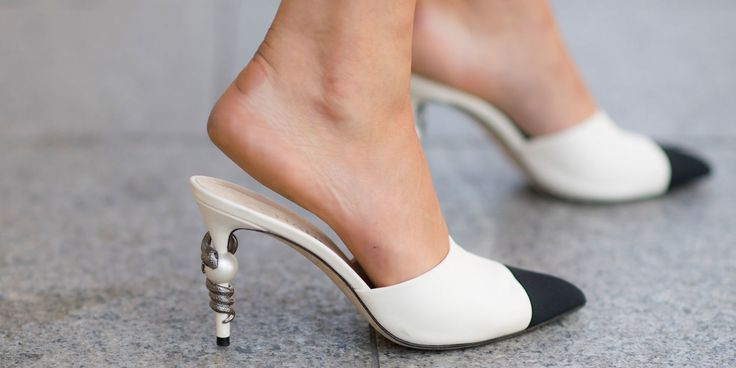"""This Little Chanel Mule won fashion month, and is being called the """"must have"""" item from the Spring 2017 fashion shows, truly capturing the spirit of the times from fashion week. It's being compared to Gucci's backless flat loafer, which was a popular trend this last year. You can expect to see fast fashion retailers copying this look very soon.  Andrea Wiedman"""