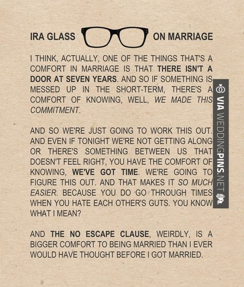 Traditional Wedding Vows Ideas: Ira Glass, Words, Marriage Quotes