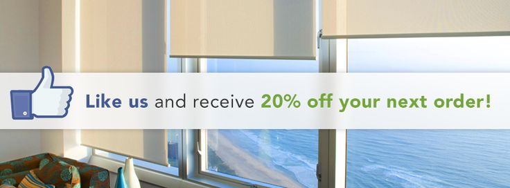Like us on Facebook to receive 20% off your next order until 26th March 2014 #blinds #coupon