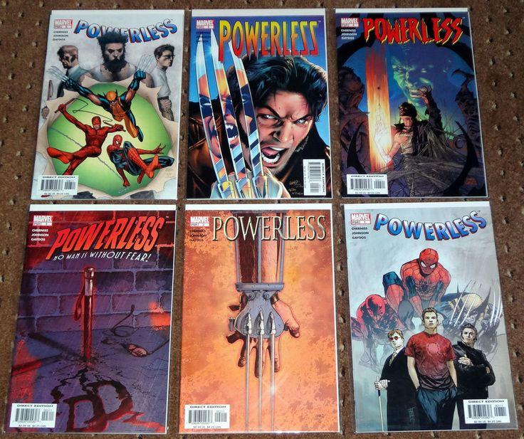 POWERLESS 1-6 1 2 3 4 5 6 2004 MARVEL WOLVERINE SPIDER-MAN DAREDEVIL X-MEN 2004