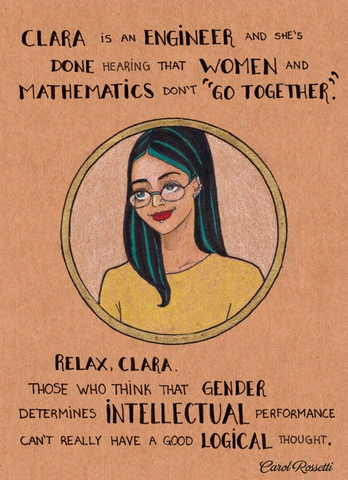 7 Pictures For Women Who Don't Care What Anyone Thinks Of Them #Gender Carol Rossetti is a graphic designer and illustrator from Brazil.