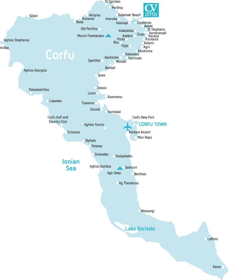 Corfu map