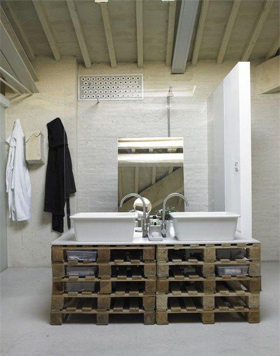 Unos simples palets pueden convertirse en una de las piezas más elegantes de cualquier espacio del hogar.