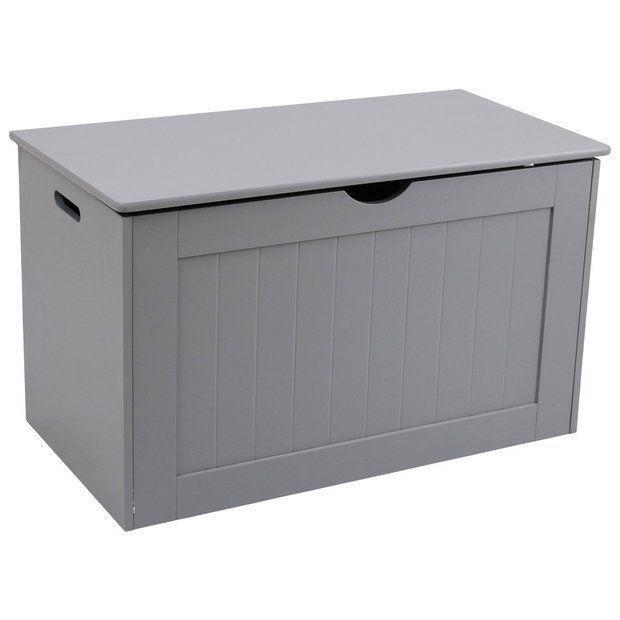 Buy Argos Home Shaker Blanket Box Grey Ottomans Blanket Box Argos Home Grey Storage