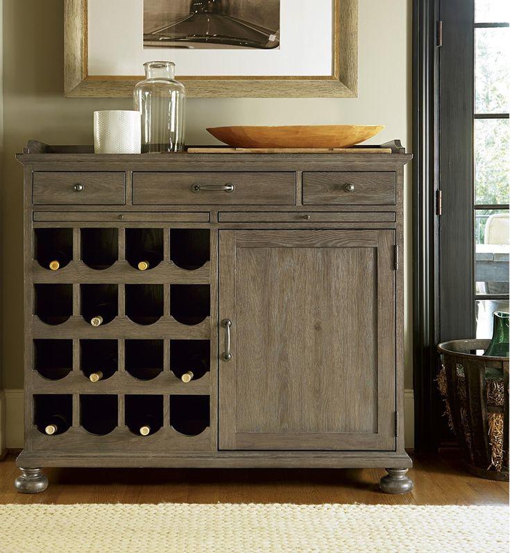French Oak Small Wine Buffet Cabinet Wine Bar Furniture