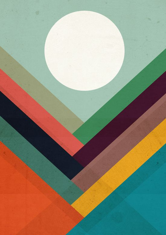 Poster | ROWS OF VALLEYS von Budi Kwan | more posters at http://moreposter.de