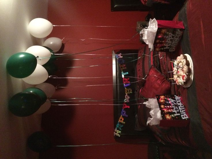 Made cupcakes, got balloons and his presents to use them as decoration in his room!
