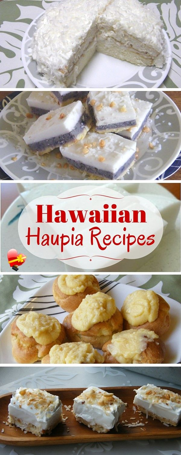 Here are some of our favorite Hawaiian style Haupia recipes. This simple and sweet dessert is made from coconut milk and thickened to make a delicious...