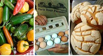 Local produce, eggs, bread and more at the Green Market. Piedmont Park