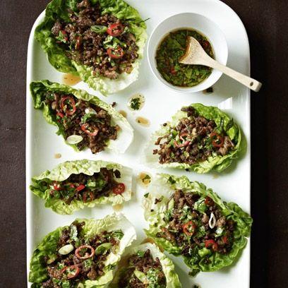 Gordon Ramsay's chilli beef lettuce wraps   Gordan Ramsay recipes - Red Online