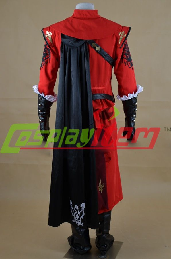 Final Fantasy XIV Red Mage Cosplay costume custom made#XIV#Red#Final
