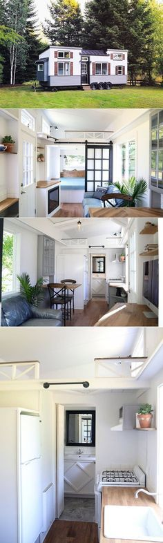 Handcrafted Movement Pacific Pearl tiny house brings together rustic modern farmhouse style in one delightfully tiny package. - created via https://pinthemall.net